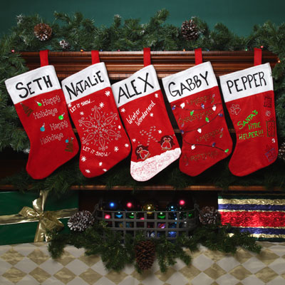 sparkle name stockings - Christmas Stocking Decorating Ideas