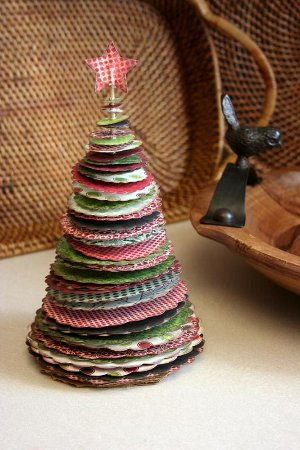 Whimsical Paper Christmas Tree