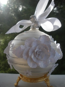 Winter Rose Ornament