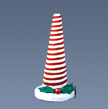 Red and White Peppermint Chenille Tree
