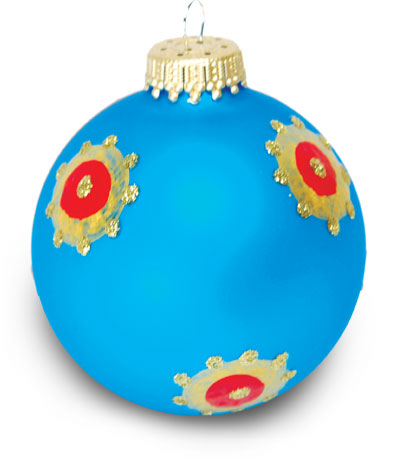 Bejeweled Painted Christmas Ornament