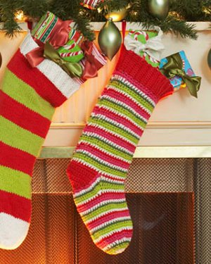 Mrs. Claus's Crocheted Stocking