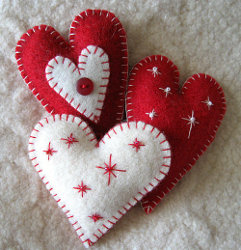 Heart Felt Ornaments Tutorial Favecrafts Com