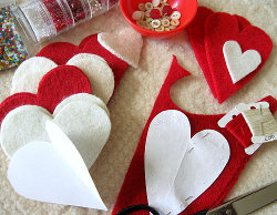 Heart Felt Ornaments Step 1