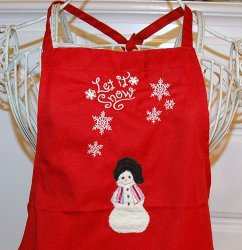 Holiday Apron Finished