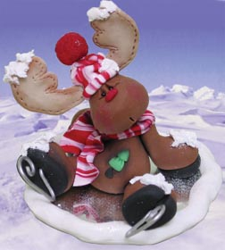 Ice Skating Reindeer Clay Craft