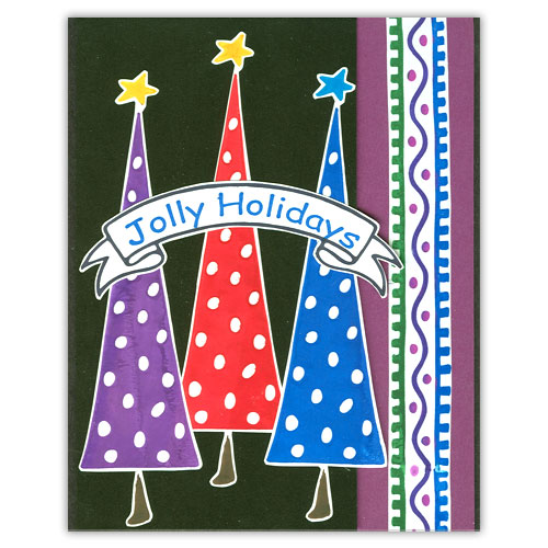 Jolly Holidays Stamp Card