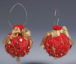 Jazzy Christmas Ornaments