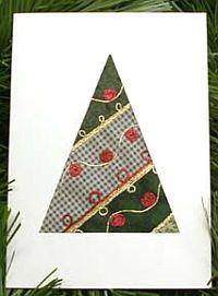 no sew quilt christmas card - No Photo Christmas Cards