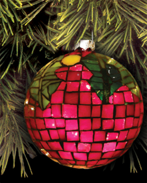 ruby red globe ornament