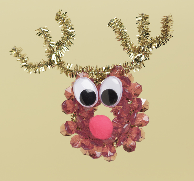 reindeer ornament - Homemade Christmas Ornament Ideas