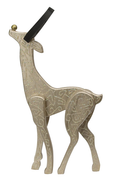 Glittery Painted Christmas Deer