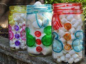 Snowman Belly Jars