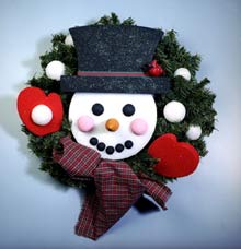 Decorative Snowman Wreath