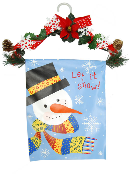 Hanging Snowman Canvas with Garland