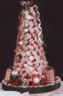 candy covered christmas tree