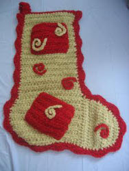 Swirls Crochet Stocking