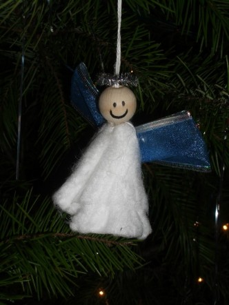 unique tampon angel christmas ornament - Christmas Angel Decorations