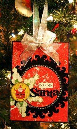 Welcome Santa Scrapbookg Sign