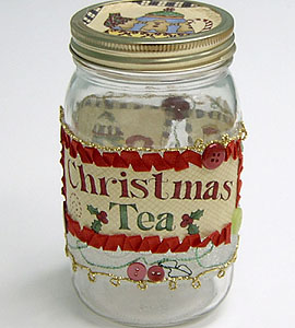 Quilted Christmas Treat Jar