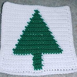 Christmas Tree Afghan Square