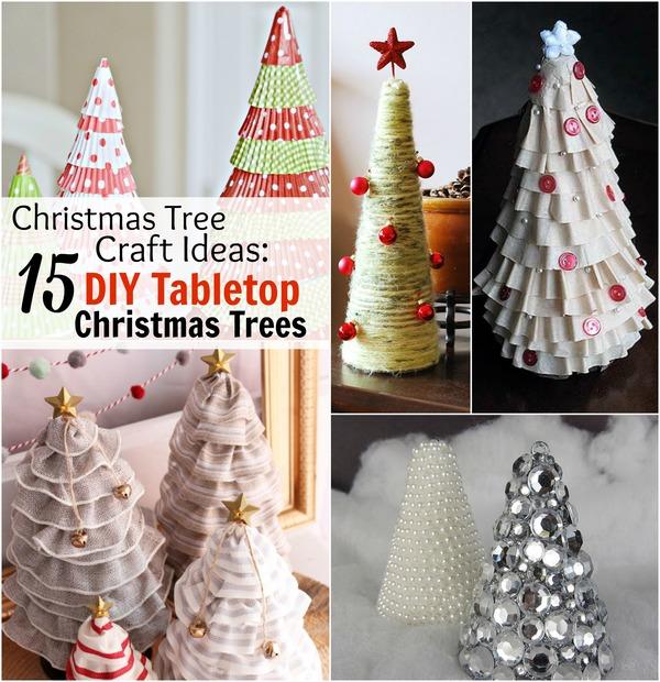 Mini Pom Pom Table Top Christmas Tree ...