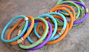 Colorful Clay Bangles