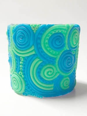 Groovy Clay Votive Holder