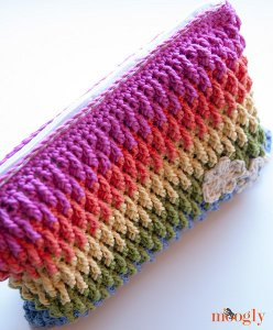 Colorful Crochet Clutch