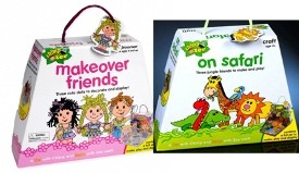 Pressman Toy On Safari and Makeover Friends Craft Kits