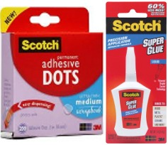 Scotch Super Glue and Adhesive Dots