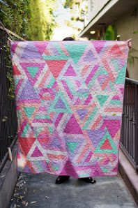 Cozy Posy Triangle Quilt