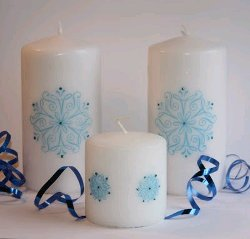 Stamped Candles