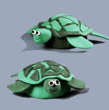 Magic Clay Turtles Kids Craft