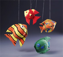 Clay magic Fish Craft for Kids