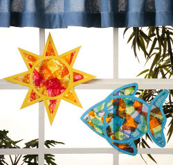 tissue sun catchers