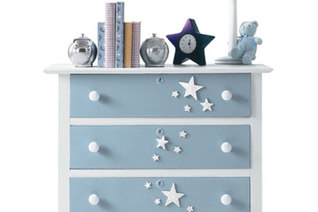 Falling Stars Kids Room Dresser Decoration