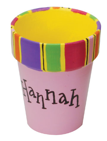 Painted Name Flower Pot