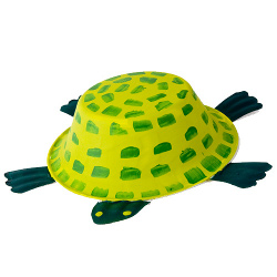 Paper Bowl Turtle | Turtle crafts, Paper bowls, Summer crafts for kids | 250x250