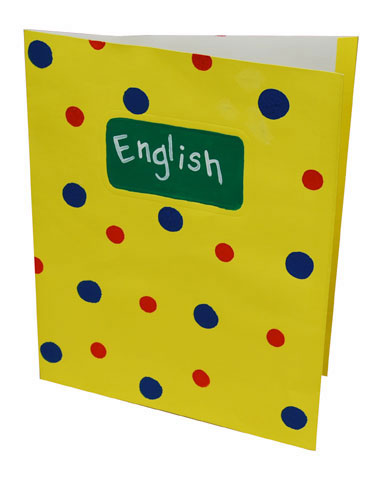 Polka Dot School Folder