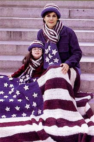 American Flag Afghan Favecrafts