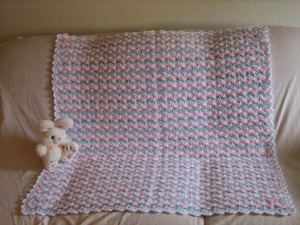Baby Shells and Ribbon Afghan