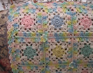 Bitty Blossom Baby Afghan