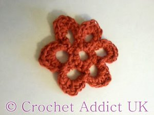 Butterfly Weed Crocheted Flower