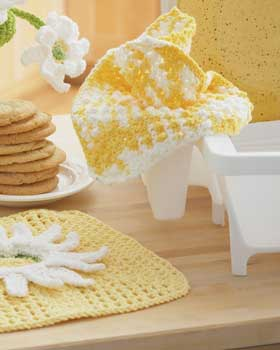 cheerful crochet dish cloth
