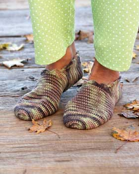 A Fabulous Pair of Crochet Slippers