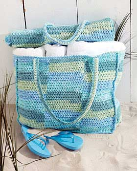 Beach Mat and Tote Bag Crochet Pattern | FaveCrafts.com