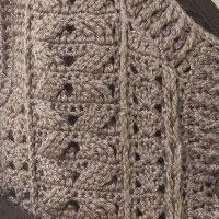 Crochet Button Tunic Vest Close-up