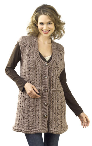 Crochet Button Tunic Vest