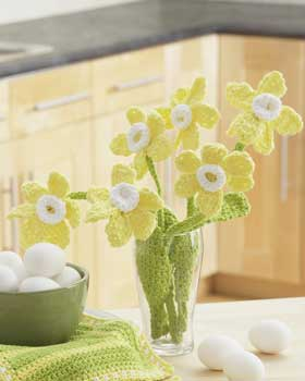 Crochet Daffodils Bouquet